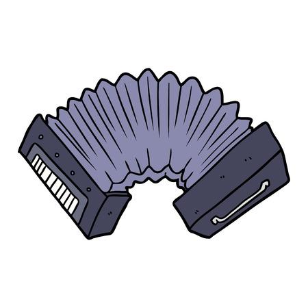 Nice accordion cartoon Illusztráció