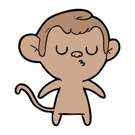 Carefree monkey cartoon