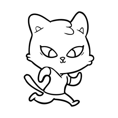 Cute cartoon cat Stock Vector - 95255528