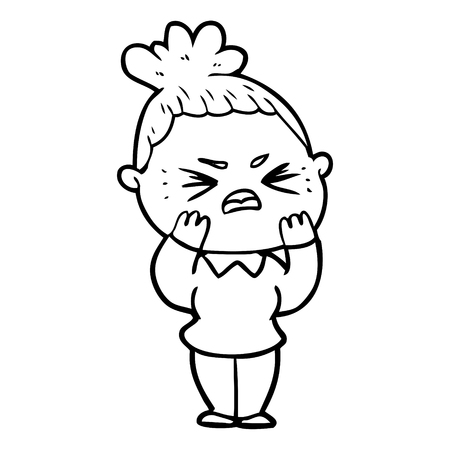 Disappointed woman cartoon 向量圖像