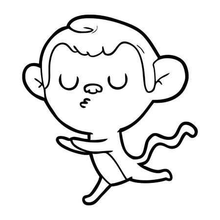 Hand drawn cartoon monkey