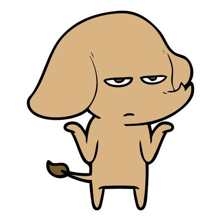 Annoyed elephant cartoon