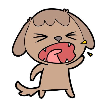 Hand drawn cute cartoon dog barking