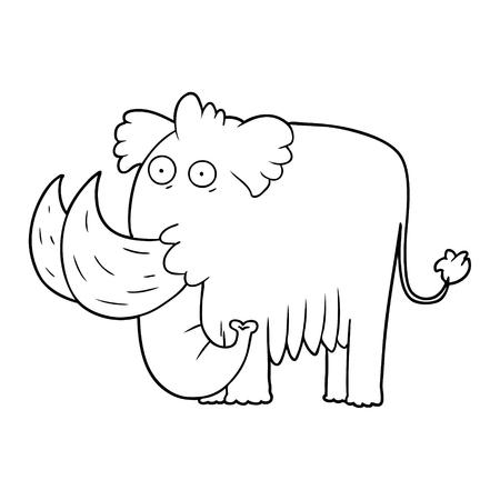 cartoon mammoth Vector illustration.