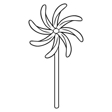 おもちゃの風車  イラスト・ベクター素材