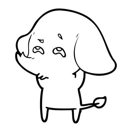 cartoon elephant remembering Vector illustration.
