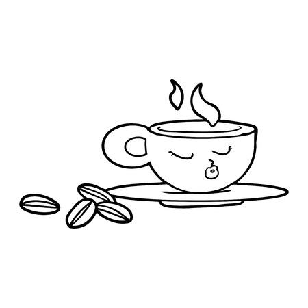 Hand drawn cartoon espresso mug 版權商用圖片 - 95386764