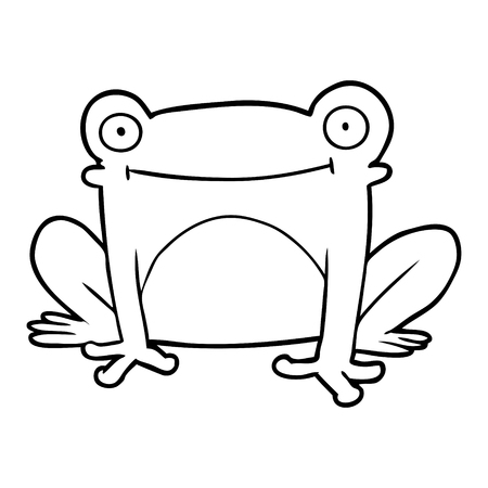 Hand drawn cartoon frog