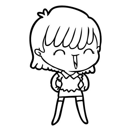 A cartoon woman on plain background. Фото со стока - 95291887