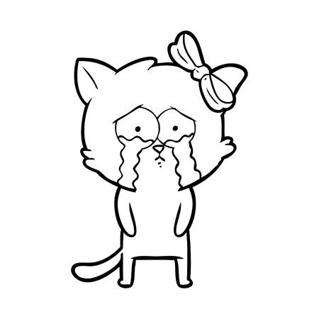 A cartoon cat on plain background.