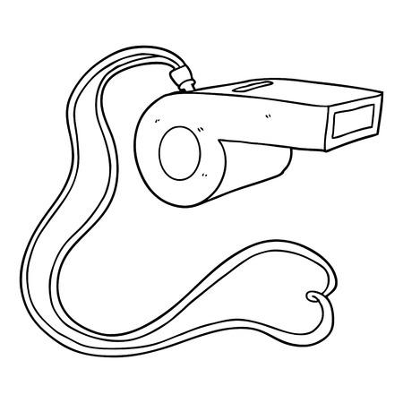 Een cartoonfluit op effen achtergrond. Vector Illustratie