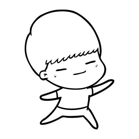 Cartoon smug boy vector