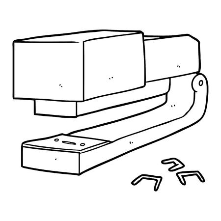 Cartoon office stapler