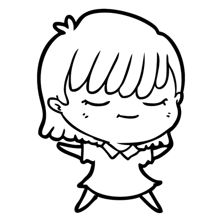 Cartoon woman with eyes closed vector
