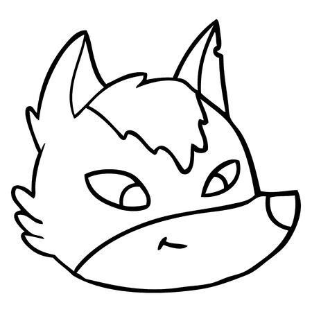 Cartoon wolf face vector