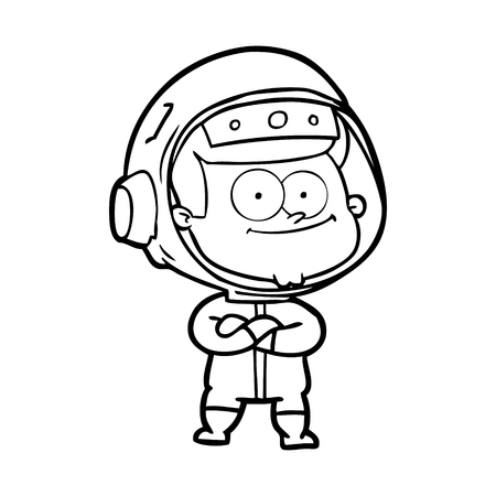happy astronaut cartoon