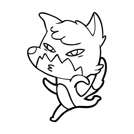 Clever cartoon fox.