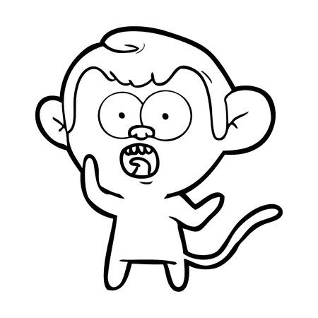 cartoon shocked monkey Stok Fotoğraf - 95376755