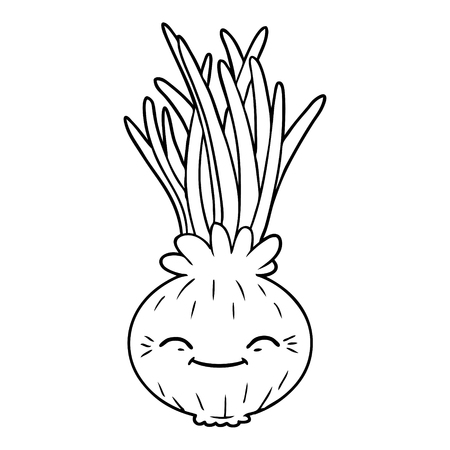 cartoon onion smiling