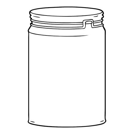 cartoon empty glass jar Illustration