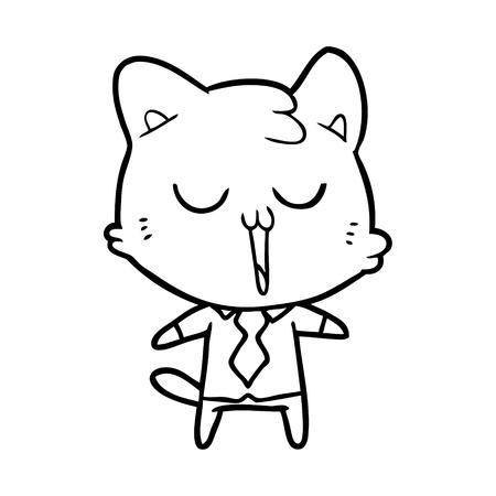cartoon cat in shirt and tie