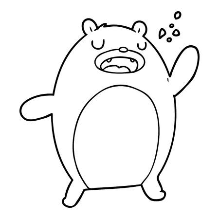 funny cartoon bear Иллюстрация