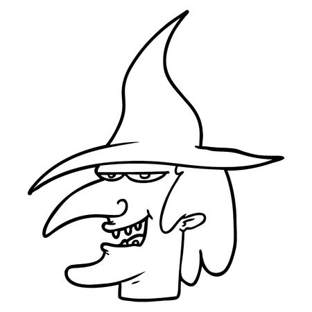 cartoon witch Stock Illustratie