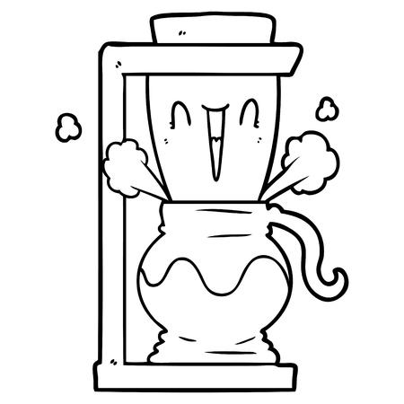 cartoon filter coffee machine