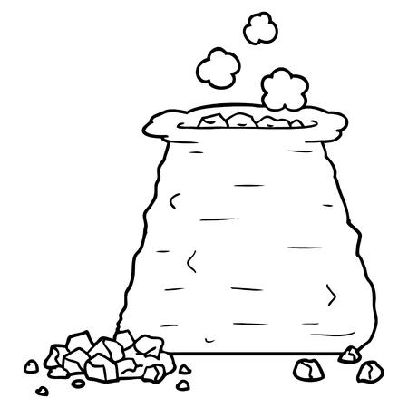 cartoon sack of coal