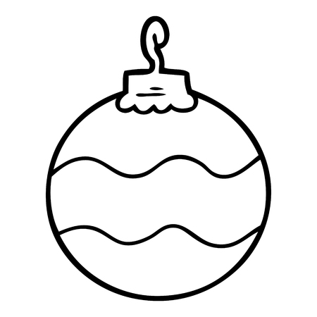 cartoon christmas bauble Ilustracja