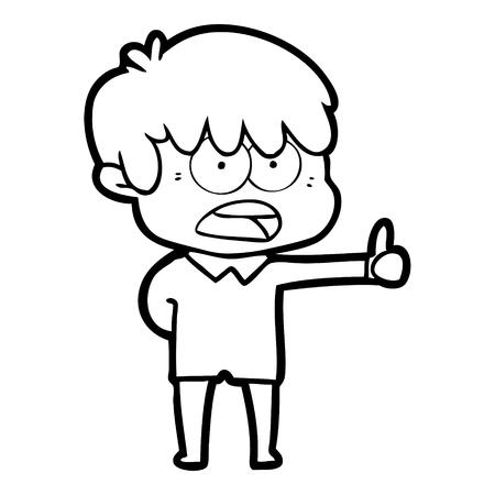worried cartoon boy Stock Vector - 95304014