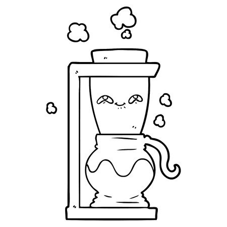 happy cartoon coffee pot Çizim