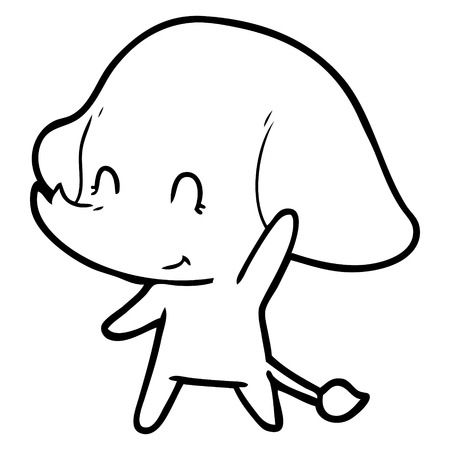 Cute cartoon elephant Standard-Bild - 103679698