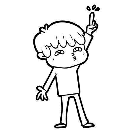 cartoon boy asking question Imagens - 95367947