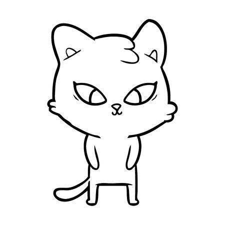 cute cartoon cat Stock Vector - 95368018