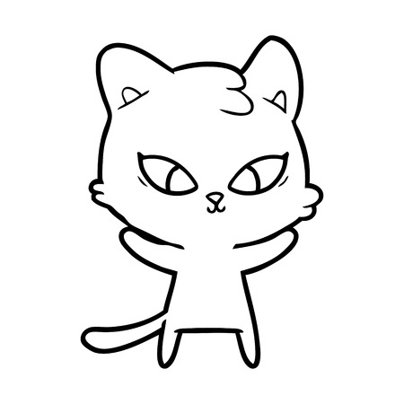 cute cartoon cat Stock Vector - 95368301
