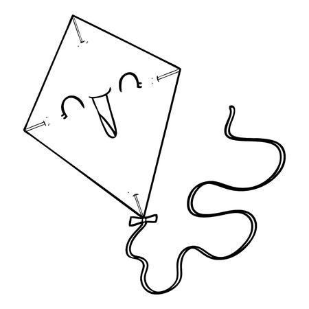 cartoon kite Иллюстрация