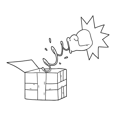 trick present with boxing glove 일러스트