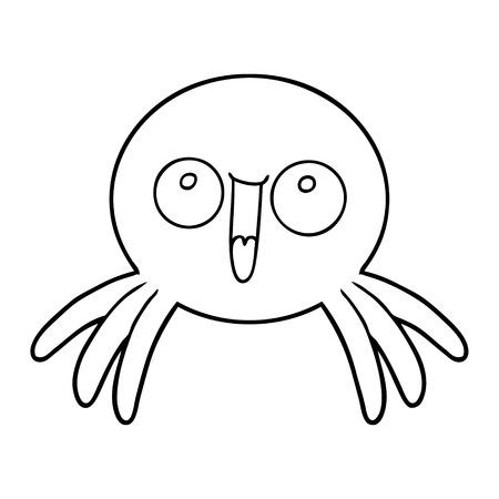 happy cartoon spider
