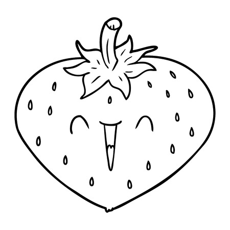 happy cartoon strawberry