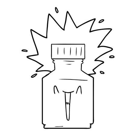 漫画の錠剤瓶
