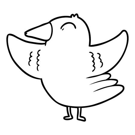 cartoon bird spreading wings