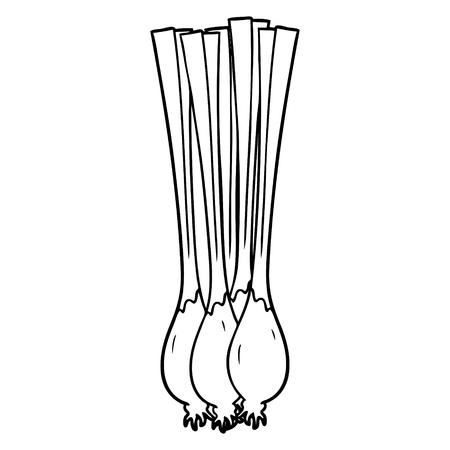 cartoon spring onions