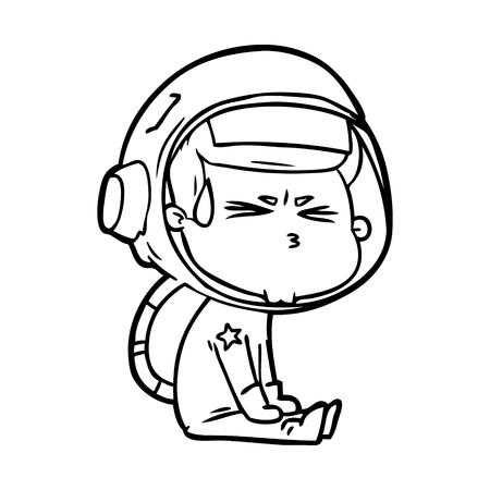 cartoon stressed astronaut Archivio Fotografico - 95311889