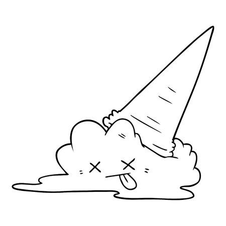 Cartone animato di gelato splatted Archivio Fotografico - 95321128