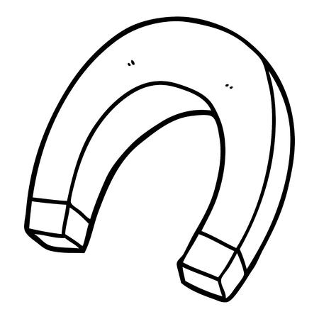 漫画の磁石イラストデザイン。