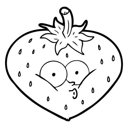 cartoon strawberry illustration design.