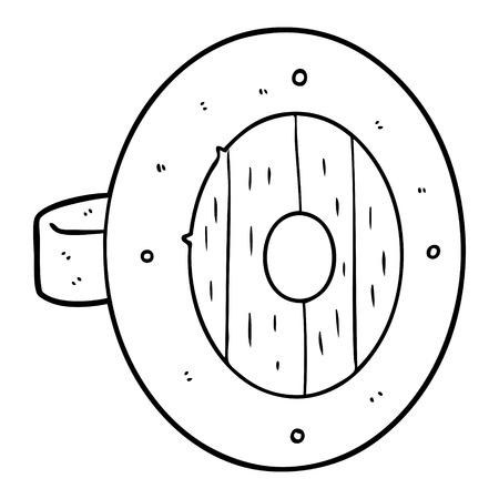 viking shield cartoon