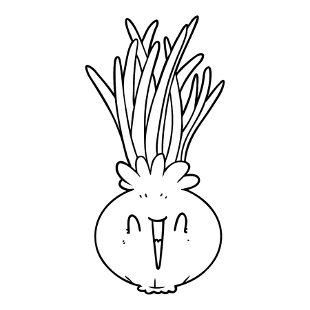 cartoon onion Vector illustration.