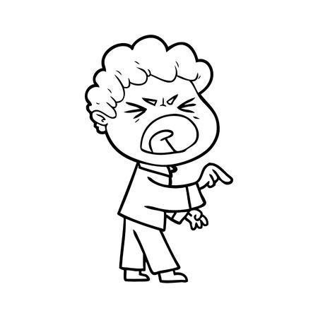 Karikatur wütenden Mann Standard-Bild - 95321619